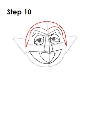 How to Draw The Count Step 10