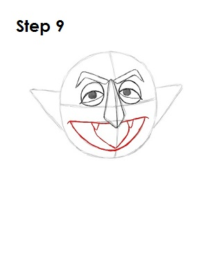 How to Draw The Count Step 9