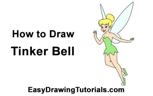 How to Draw Tinkerbell Full Body Peter Pan Disney