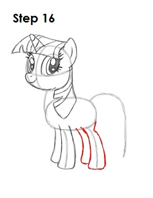 Draw Twilight Sparkle Step 16