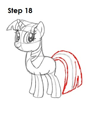 Draw Twilight Sparkle Step 18