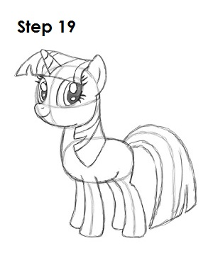 Draw Twilight Sparkle Step 19