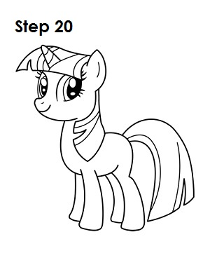 Draw Twilight Sparkle Step 20