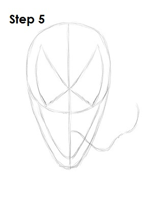 How to Draw Venom Step 5