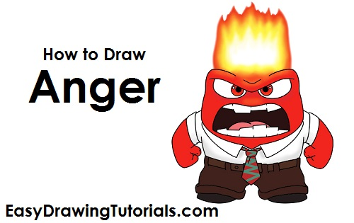 How to Draw Anger Inside Out