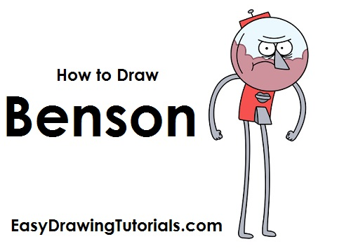 Draw Benson Regular Show