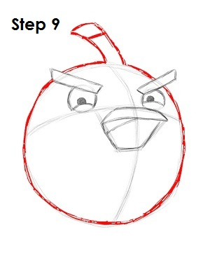 Draw Black Angry Bird Step 9