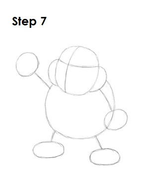 How to Draw Bowser Jr. Step 7