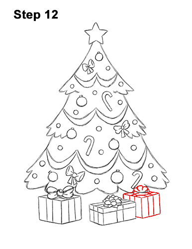 How to Draw a Christmas Tree VIDEO