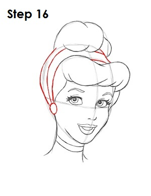 How to Draw Cinderella Step 16