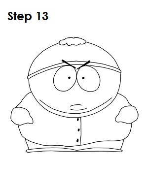 Draw Eric Cartman Step 13