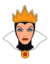 Draw Evil Queen Snow White