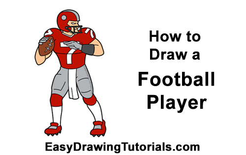 How To Draw A Football Player Quarterback Video Step By Step