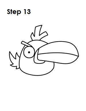 Draw Green Angry Bird Step 13