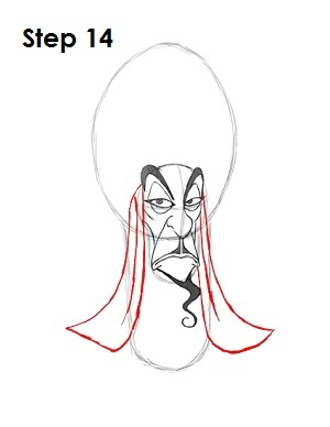 How to Draw Jafar Step 14