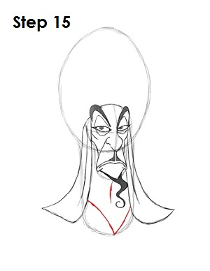 How to Draw Jafar Step 15