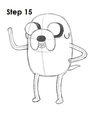 Draw Jake Adventure Time Step 15