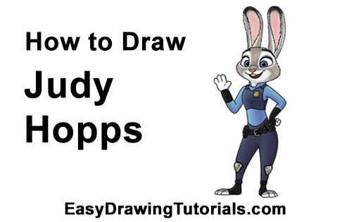 How to Draw Judy Hopps Zootopia