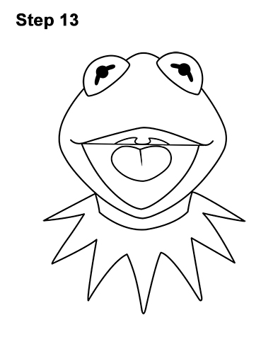How to Draw Kermit the Frog Muppet 13