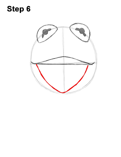 How to Draw Kermit the Frog Muppet 6