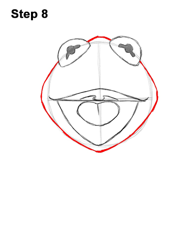How to Draw Kermit the Frog Muppet 8