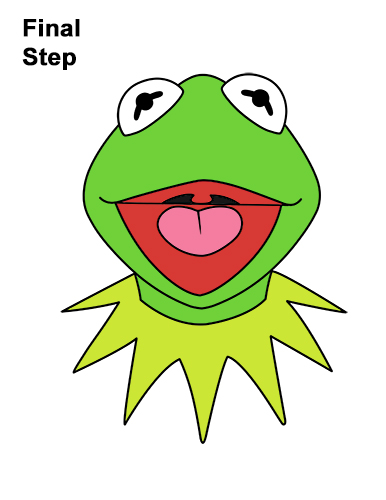 How to Draw Kermit the Frog Muppet