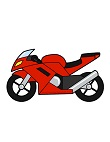 How to Draw Red Sport Motorcycle