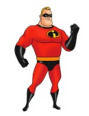 How to Draw Mr. Incredible Dad Bob Parr