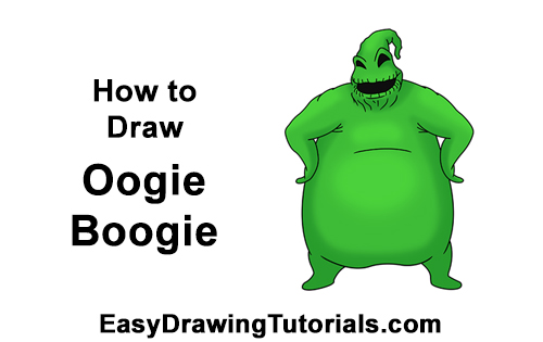 How to Draw Halloween Oogie Boogie Nightmare Before Christmas