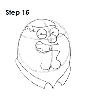 How to Draw Peter Griffin Step 15
