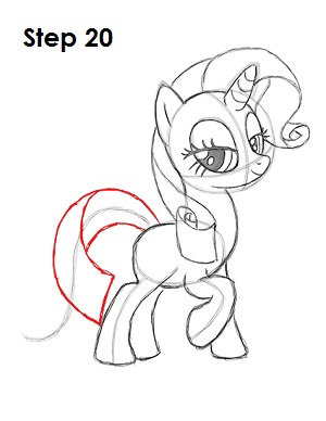 Draw Rarity Pony 20