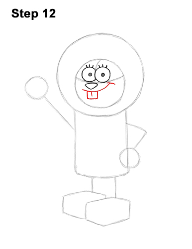 How to Draw Sandy Cheeks SpongeBob SquarePants 12