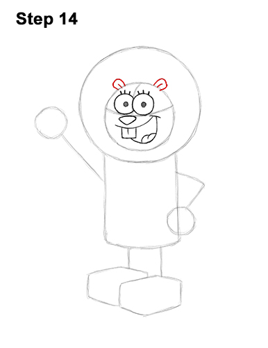How to Draw Sandy Cheeks SpongeBob SquarePants 14