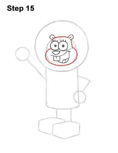 How to Draw Sandy Cheeks SpongeBob SquarePants 15
