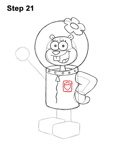 How to Draw Sandy Cheeks SpongeBob SquarePants 21