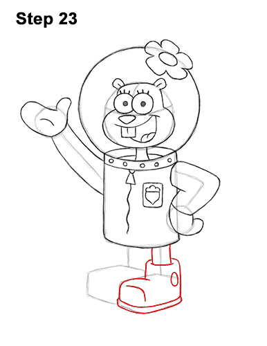 How to Draw Sandy Cheeks SpongeBob SquarePants 23