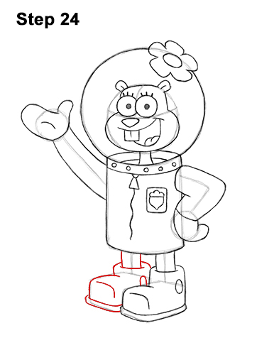 How to Draw Sandy Cheeks SpongeBob SquarePants 24