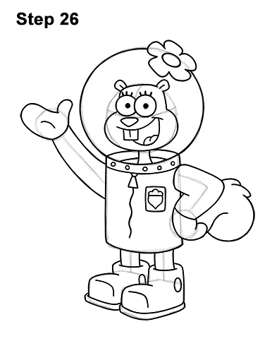 How to Draw Sandy Cheeks SpongeBob SquarePants 26