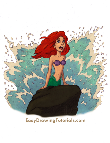 Special Drawing Ariel the Little Mermaid Color