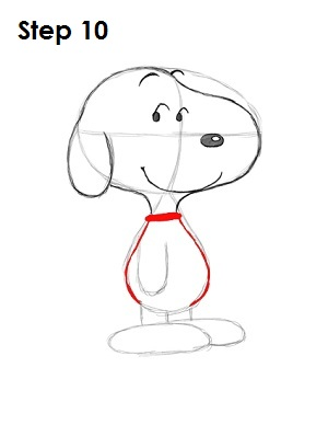 How to Draw Snoopy Step 10