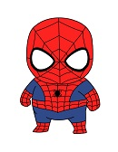 How to Draw Spider-Man Mini Chibi