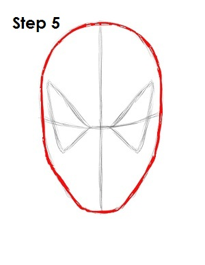 How to Draw Spider-Man Step 5