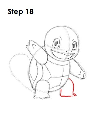 How to Draw Squirtle Step 18