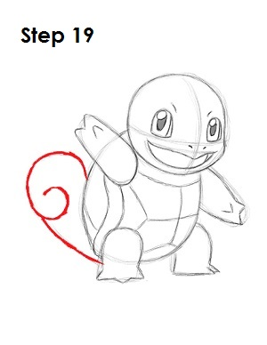 How to Draw Squirtle Step 19