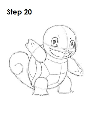 How to Draw Squirtle Step 20