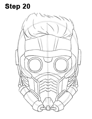 Draw Star-Lord 20