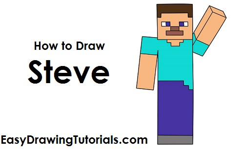 How to Draw Steve Minecraft
