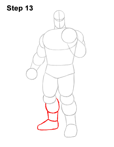 How to Draw Thanos Marvel Avengers Full Body 13
