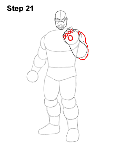How to Draw Thanos Marvel Avengers Full Body 21