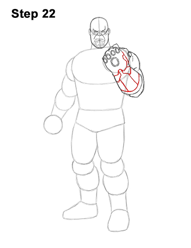How to Draw Thanos Marvel Avengers Full Body 22